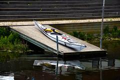 Calmness [Explored 2015-05-24] (Maria Eklind) Tags: water calm serenity canoeing calmness kanot stillhet fotosondag fs150524