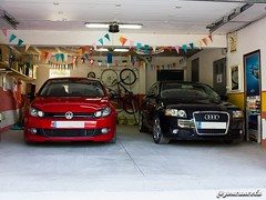 Garaje-1 (Gon Cancela) Tags: car vw golf volkswagen coruña galicia coche mk2 a3 audi bbs mkii oleiros fsi tsi garaje mkvi mk6 8p