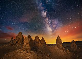Morning Twilight at the Trona Pinnacles