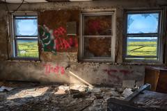 Office With A View (Linda O'Donnell) Tags: abandonedplacesinamerica newjersey urbex hdr exposurebracketing nikond750 exploreusa testingfacility windows graffiti