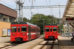 2016-07-08, NStCM, St Cergue (Fototak) Tags: schmalspurbahn treno train railway nstcm switzerland vevey 302 205 304