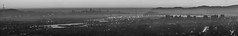 urban nebulious (pbo31) Tags: oakland california eastbay alamedacounty july 2016 boury pbo31 nikon d810 over view dark night dusk city urban traffic lightstream motion panoramic large stitched sunset sanfrancisco skyline bridge baybridge goldengatebridge easternspan haze fog bay sutro tower merrittcollege blackandwhite silhouette leonaheights