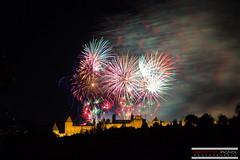 Fireworks Carcassonne of July 14, 2016 (Sbastien Pignol Photographie) Tags: fire firework feu artifice carcassonne france nuage cloud smoke cit city cityscape color medieval pignol sebastien canon 40mm 6d
