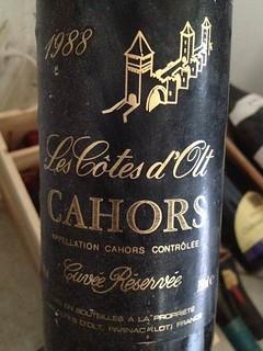 22 Les Côtes d'Olt. Cuvée Reservée 1988