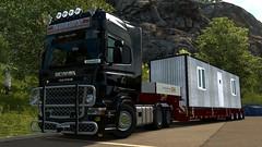 With new truck (EduardoCBS) Tags: v8 scania r2008 2008 topline r620 620 ets2 euro truck simulator 2 rjl norwegen norway road vlog diary caminhão viagem diário documentário