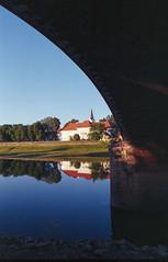 Under The Bridge (Sanijel&Marija) Tags: river bridge architecture nikon nikkor 2880 n60 fuji superia sisak croatia kupa reflection analog outdoor