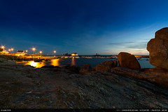 Dusk (Ludtz) Tags: ludtz canon canoneos5dmkiii 14mm 14|28 trvignon bzh bretagne breizh brittany 5dmkiii mer ocean atlantic atlantique rock rocher rocks rochers sea port harbor blue bleu