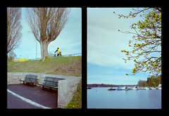 2016-04--05 - Olympus Pen EE - Kodak Ektar 100-03 (sarajoelsson) Tags: city urban color film analog pen spring diptych sweden stockholm snapshot olympus ishootfilm analogue halfframe everydaylife filmgrain vardag 2016 filmphotography penee filmisnotdead halvformat diptyk teamframkallning digitizedwithdslr