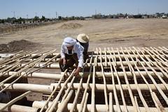 Stable roof (Jiyan Foundation) Tags: jiyan foundation humanrights chamchamal iraq irak kurdistan clay architecture construction lehmbau roof wood holz holzkonstruktion dach flachdach garden gardening therapy rehabilitation roswag architekten architektur