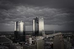 Shelf Cloud (dkfotog) Tags: sky storm weather clouds skyscraper cityscape gloomy stormy gloom storms cloudporn wx