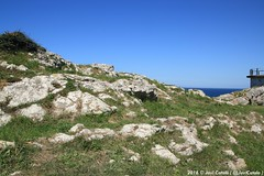 Llanes (- Javi -) Tags: sea sky costa mountain verde azul mar ciudad asturias playa cielo montaa llanes acantilado