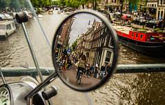 Amsterdam Behind You! (el_boberino) Tags: street city travel holland netherlands beautiful dutch amsterdam mirror canal nikon europe nederlands amature travelphotography nikon3200 d3200 flickrtravelaward