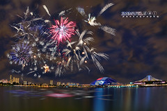 NDP 2016 Fireworks #5 - 16th July 2016 (Samuel.Dai) Tags: nationalday parade ndp singaporeindependence 2016 fireworks nationalstadium singaporeriver tourism touristattraction lowlightphotography cityscapephotography skyline longexposurephotography nikon d800 15mm fisheye hdr samueldai