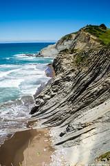 Flysch de Zumaya (cvielba) Tags: mar playa guipuzcoa cantabrico acantilados zumaya flysch