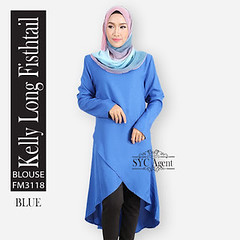 KELLY LONG FISHTAIL BLOUSE - FM3118 (Syalin's Collection) Tags: long blouse kelly fishtail fm3118