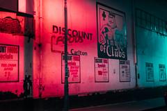Alice in Dystopia (elsableda) Tags: night midnight dystopia dystopian neon walls light lights pink alice wonderland sony city urban cityscape nightscape street south africa johannesburg joburg
