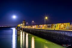 Fully moon (Antonio Camelo) Tags: nikon night noche moon luna sky sea photo port