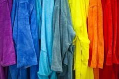 Chromothrapie (Gerard Hermand) Tags: 1607252983 gerardhermand france paris canon eos5dmarkii formatpaysage palaisdetokyo muse museum mikarottenberg couleur color peignoir bathrobe