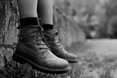 Made for walking (squirrelled) Tags: film boots bokeh sonya7ii blancoynegro blackandwhite noiretblanc brancoepetro schwarzundweis biancoenero popayn