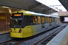Manchester Metrolink 3074 (Will Swain) Tags: manchester airport station 12th june 2016 tram trams light rail railway rails transport travel europe metrolink 3074 m5000