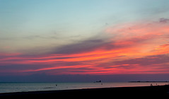Baltic Sea (`TOMS`) Tags: liepaja latvia latvija sunset sea coastline water evening dusk nikon d3200 35mm 18f nikkor outdoor baltic afsdxnikkor35mmf18g balticsea landscape wow red sky clouds wet sand cloud