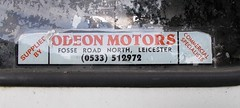 1997 FORD TRANSIT 190 VAN 2496cc P971URF (Midlands Vehicle Photographer.) Tags: dealers decal sticker odeon motors fosse road leicester 1997 ford transit 190 van 2496cc p971urf