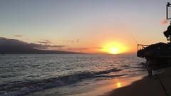 Cheeseburger in Paradise Sunset in Lahaina, Maui (Tina Case) Tags: oceansunset shotonaniphone shotonaniphone6s mauisunsetting sunsetinmaui