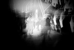 Night trace (Lara Kantardjian) Tags: urban bw film ricoh analogue autaut gr1