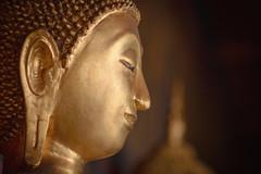 Budda side face Wat Arun.