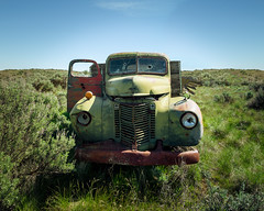 Standoff (Pedalhead'71) Tags: adamscounty washington abandoned truck desert happytruckthursday