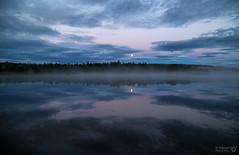 Mirror - Mirror (TorErikP) Tags: reflection lake etnedal rssjen clouds moon haze dis skyer refleksjon vann innsj blank speiling stille morning morgen mne