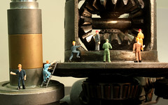 work men engine (Sophia McPolin) Tags: littlepeople perception size fun creative smallworld