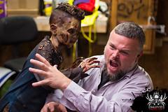 Getting in character (SlayervilleProd) Tags: zombie makeup halloween baldwinasylum slayerville slayervilleproductions undead hauntedhouse baldwinasylum2016videoshoot