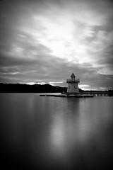 Lighthouse lake (J N Photography) Tags: jeremynuyten lacdailette lac lake ailette picardie france water paysage landscape fog brume brouillard poselongue longexposure cloud centerparc sonyalpha77 noirblanc blackandwhite monochrome lighthouse dt1650mmf28ssm dramatic explore