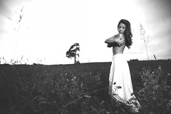 Beauty and Fields (Day Vid Z / ASCENSION Photography) Tags: autumn sunset woman sun ontario canada tree fall nature girl beautiful field grass outdoors amazing model natural north brunette epic thunderbay