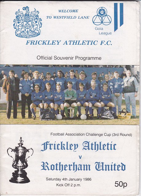 Frickley Athletic V Rotherham United 4/1/86 (FA Cup 3rd Round)