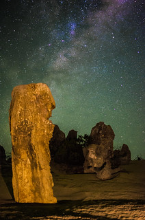 Milky Way Airglow 35mm - Pinnacles Desert, Western Australia