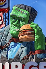 Frankenstein's Whopper (Gary Burke.) Tags: travel vacation portrait sculpture ontario canada tourism monster statue architecture canon eos niagarafalls restaurant display burger fastfood north canadian niagara frankenstein burgerking hamburger horror dining dslr touristattraction hauntedhouse cliftonhill universalmonster houseoffrankenstein 70d garyburke classichorror klingon65 canoneos70d