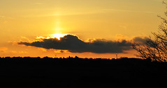 Spring sunset (littlestschnauzer) Tags: above light sunset sky cloud sun west nature weather rural easter spring nikon skies glow view yorkshire horizon sunday april setting emley 2015 d5000