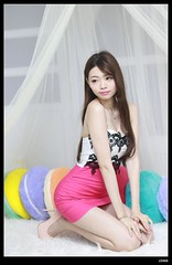 nEO_IMG_DP1U9848 (c0466art) Tags: light red portrait white girl beautiful face female canon pose studio shoe nice eyes perfect asia long pretty legs skin action body quality gorgeous taiwan skirt lips short figure attractive heel tall welcome lovely charming elegant curve popular pure hight 1dx c0466art