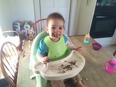 Benjamin Enjoying Some of Papa's Cake (Rachie Roo) Tags: birthday cake virginia ben benjamin