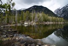 Taggart Lake, Grand Teton National Park (laura's POV) Tags: lake mountains reflection nature spring jackson rockymountains wyoming tetons nationalparks jacksonhole grandtetonnationalpark taggartlake lauraspointofview lauraspov