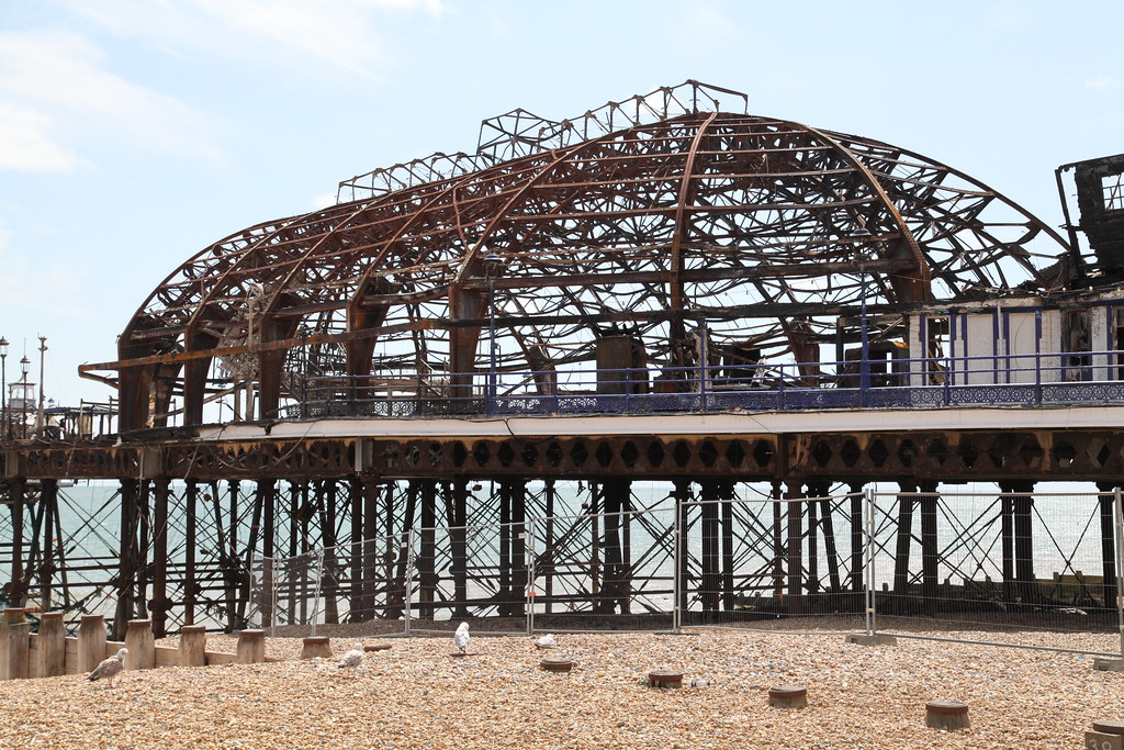 Eastern side of Eastbourne pier - after the fire (3)