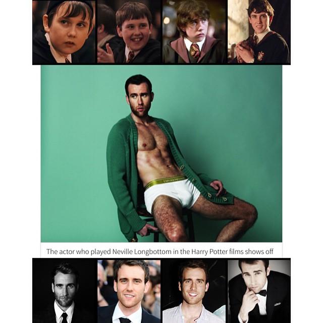 Oh My God!!! เจ้าหนู Neville Longbottom ใน Harry Potter โตแล้วแซ่บเว่อร์ (เครดิตภาพกลางจาก Out  http://www.out.com/popnography/2015/5/21/harry-potter-matthew-lewis-strips-down-talks-teeth และจากนิตยสาร Attitude)