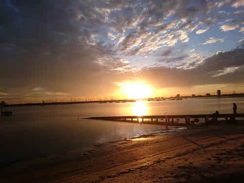 Sunset at St Kilda Breakwater