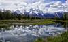 Spring at Schwabacher Landing (Jeff Clow) Tags: usa reflection nature landscapes spring bravo western wyoming timeless jacksonhole grandtetonnationalpark schwabacherlanding