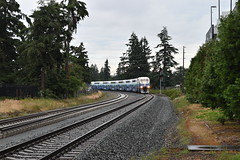 Sounder 1509 Arriving at Lakewood Station (T.C.M.) Tags: station st train railcar transit sound lakewood bombardier bilevel soundtransit emd f59phi lakewoodwa