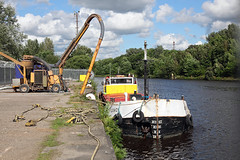 'Loach' Wigg Wharf 13th July 2016 (John Eyres) Tags: wigg wharf has been redundant for many years probably last used when guinness boats unload here loach now unloads her cargo grain instead runcorn docks further down stream manchestershipcanal