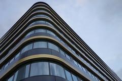 Golden lines on rounded corner (Pascal Volk) Tags: building berlin architecture hotel architektur bauwerk modernistarchitecture gebude modernarchitecture berlinmitte modernearchitektur komplex buildingcomplex gebudekomplex karlliebknechtstrase baukomplex sonydscrx100