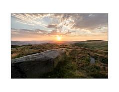 Watching the Sun (danjh75) Tags: sunset clouds landscape nikon heather derbyshire peakdistrict ngc nationaltrust goldenhour higger higgortor gritstones